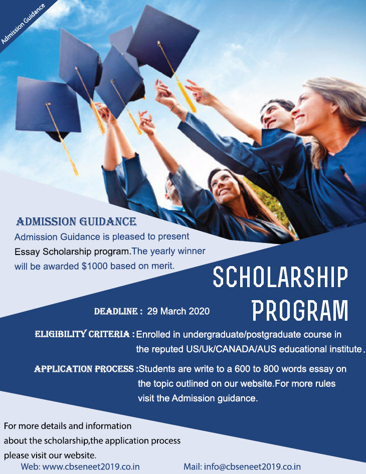 Admission Guidance Essay funding for International Students