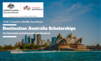 Australian Government and SAE Creative Media Institute Destination Australia Scholarships