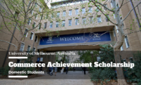 Commerce Achievement Scholarship at University of Melbourne, Australia