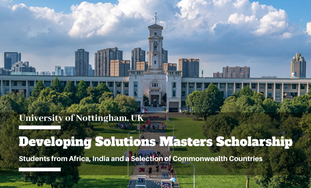 Developing Solutions Masters funding for Students from Africa, India and Commonwealth Countries