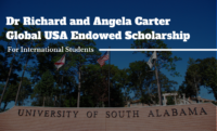 Dr Richard and Angela Carter Global USA Endowed funding for International Students