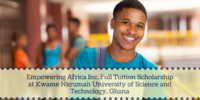 Empowering Africa Inc. Full tuition grant at Kwame Nkrumah University of Science and Technology, Ghana