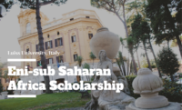 Eni-sub Saharan Africa Scholarship at Luiss University in Italy