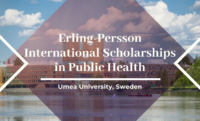 Erling-Persson international awards in Public Health at Umea University, Sweden