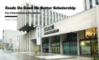 Esade Do Good Do Better International Scholarship at Esade Ramon Llull University, Spain