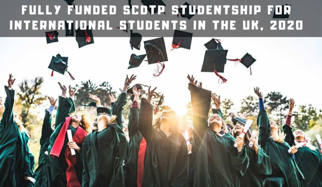 Fully Funded SCDTP Studentship for International Students in the UK, 2020