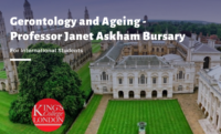Gerontology and Ageing - Professor Janet Askham Bursary for International Students