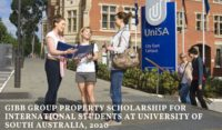 Gibb Group Property funding for International Students at University of South Australia, 2020