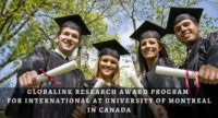 Globalink Research Award Program for International at University of Montreal in Canada