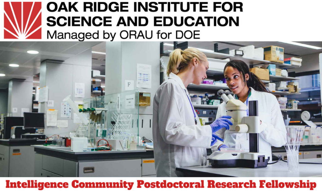 Intelligence Community Postdoctoral Research Fellowship