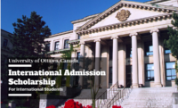 International Admission Scholarship at University of Ottawa, Canada