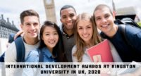 International Development Awards at Kingston University in UK, 2020