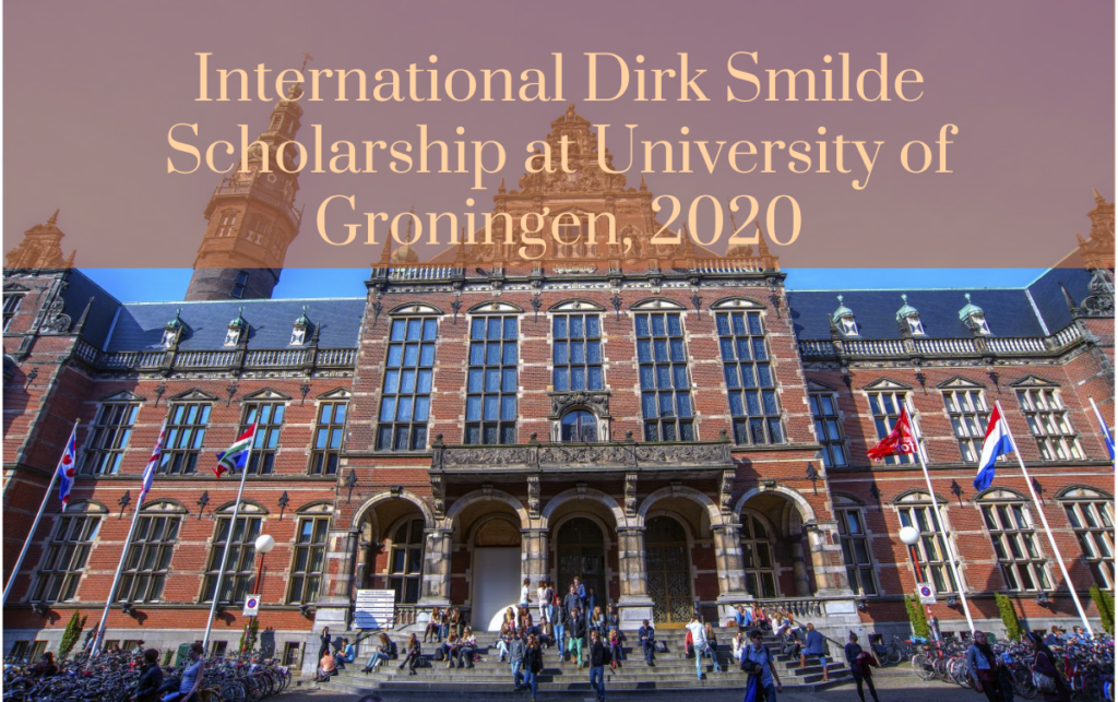 International Dirk Smilde Scholarship at University of Groningen, 2020
