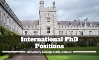 International PhD Positions at University College Cork, Ireland