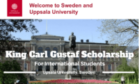 King Carl Gustaf funding for International Students at Uppsala University, Sweden