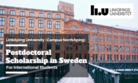 Linköping University International Postdoctoral Scholarship in Sweden