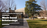 Merit-based Scholarships for First-year International Students at Loyola University Maryland, USA