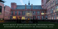 NCUK Merit funding for International Students at University of Sheffield, 2020