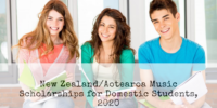 New Zealand/Aotearoa music awards for Domestic Students, 2020