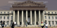 Postgraduate Merit Awards Part-Time at University of the Witwatersrand, South Africa