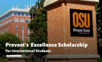 Provost's  Excellence funding for International Students at Oregon State University, USA
