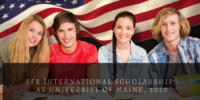 SFR international awards at University of Maine, 2020