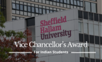Vice Chancellor's Award for Indian Students at Sheffield Hallam University, UK