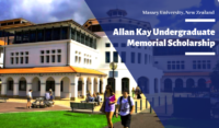 Allan Kay Undergraduate Memorial Scholarship at Massey University, New Zealand
