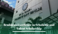 Benildean Excellence in Scholastic and Talent Scholarship at De La Salle-College of Saint Benilde, Philippines