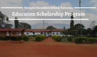 Education program at Mongola Secondary School, Tanzania