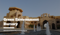 Green Environment Bursary at the American University in Cairo, Egypt