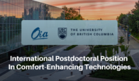 International Postdoctoral Position in Comfort-Enhancing Technologies at UBC Okanagan in Canada