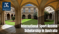 Melbourne University International Sport Access Scholarship in Australia
