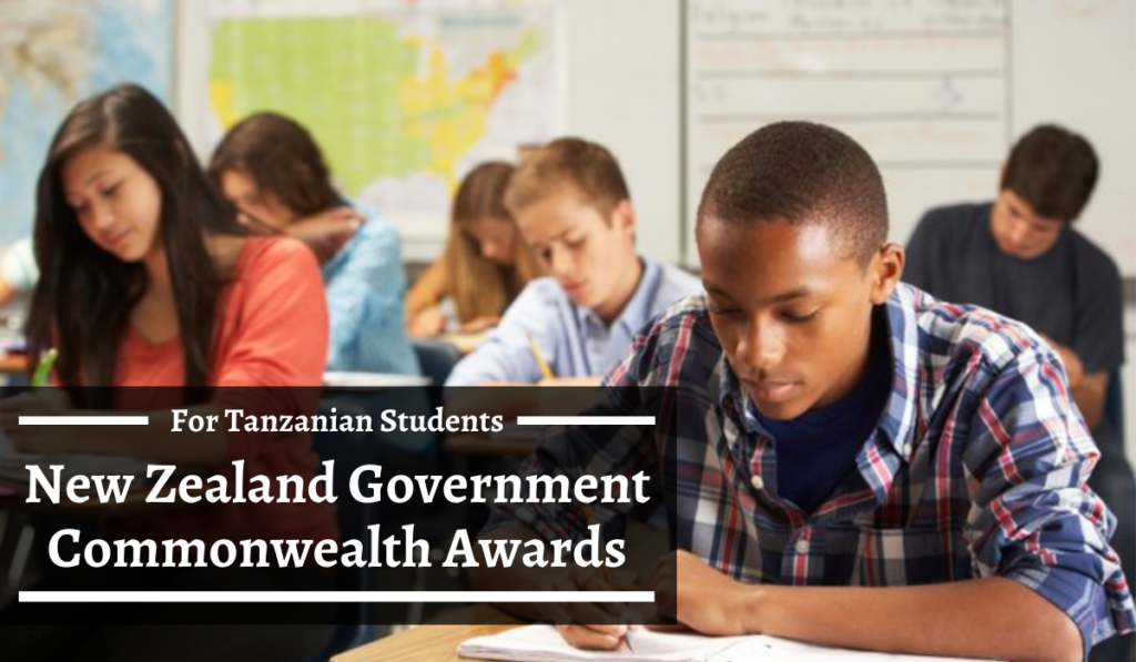 New Zealand Government Commonwealth Awards for Tanzanian Students, 2020