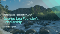 Public Land Foundation George Lea Founder's Scholarship in the United States