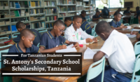 St. Antony's Secondary School Scholarships, Tanzania