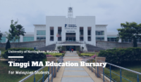 Tinggi MA Education Bursary at University of Nottingham, Malaysia