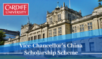 Cardiff University Vice-Chancellor's China Scholarship Scheme in the UK