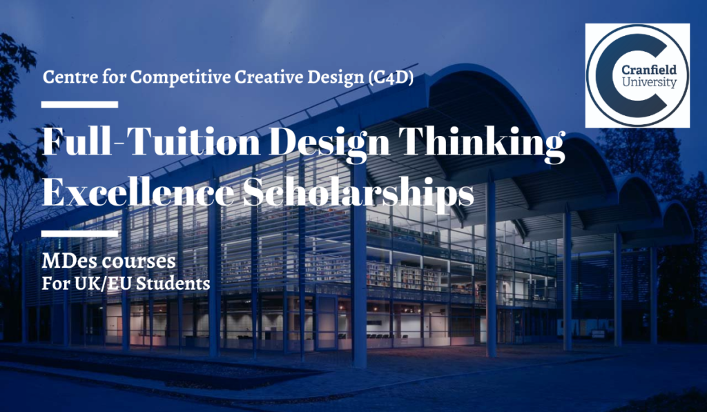 Centre for Competitive Creative Design and Design Thinking Excellence Scholarships