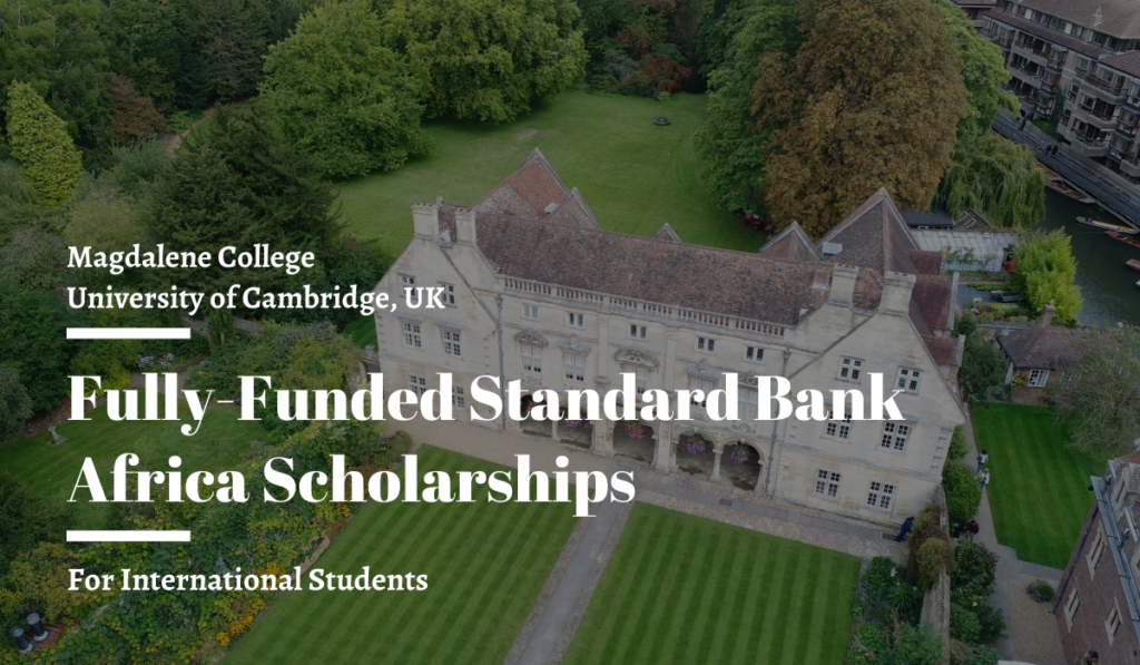 Fully-Funded Standard Bank Africa Scholarships 2020