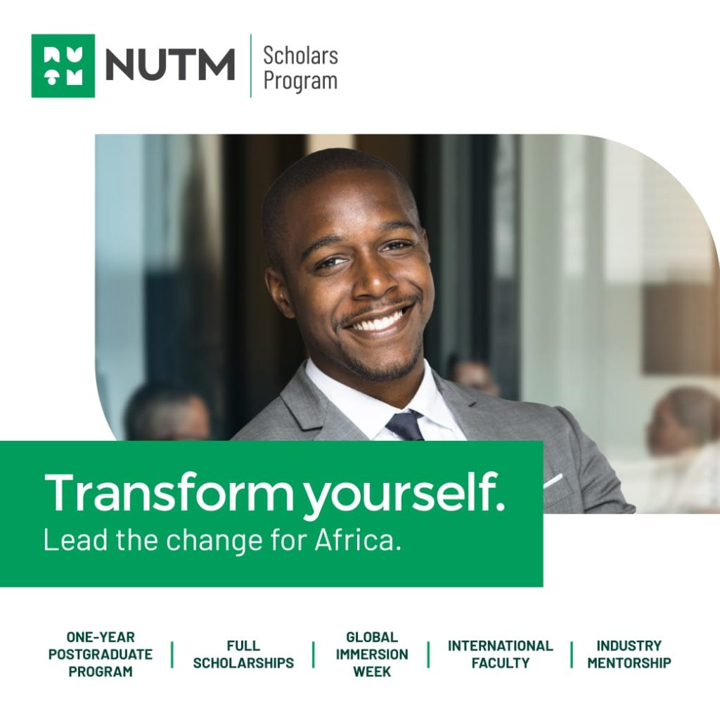 NUTM Scholars Program for Young Nigerian and African Individuals
