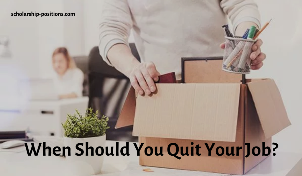 When Should You Quit Your Job?