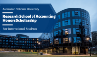 ANU Research School of Accounting Honors Scholarships for International Students in Australia