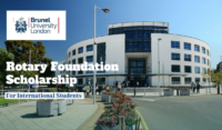 Brunel University London Rotary foundation grants for International Students
