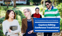 Capstone Editing Conference Travel Grant for Postgraduate Research Students