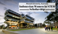 Monash University Indonesian Women in STEM Scholarship in Australia