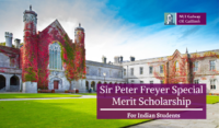 National University of Ireland Sir Peter Freyer Special Merit funding for Indian Students