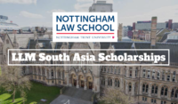 Nottingham Law School LLM South Asia Scholarships in the UK