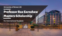 Professor Rae Earnshaw Masters funding for International Students at University of Bradford, UK