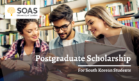 SOAS University of London Postgraduate funding for South Korean Students